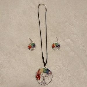 Jewelry - Tree of Life Necklace and Earrings